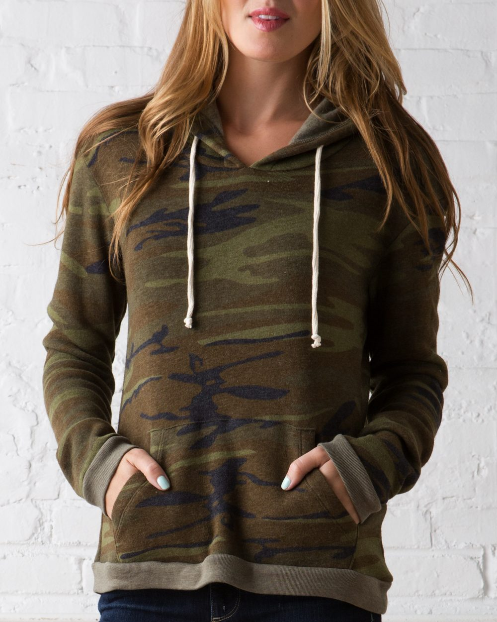 Alternative Ladies' Eco-Fleece Athletics Hooded Pullover ...