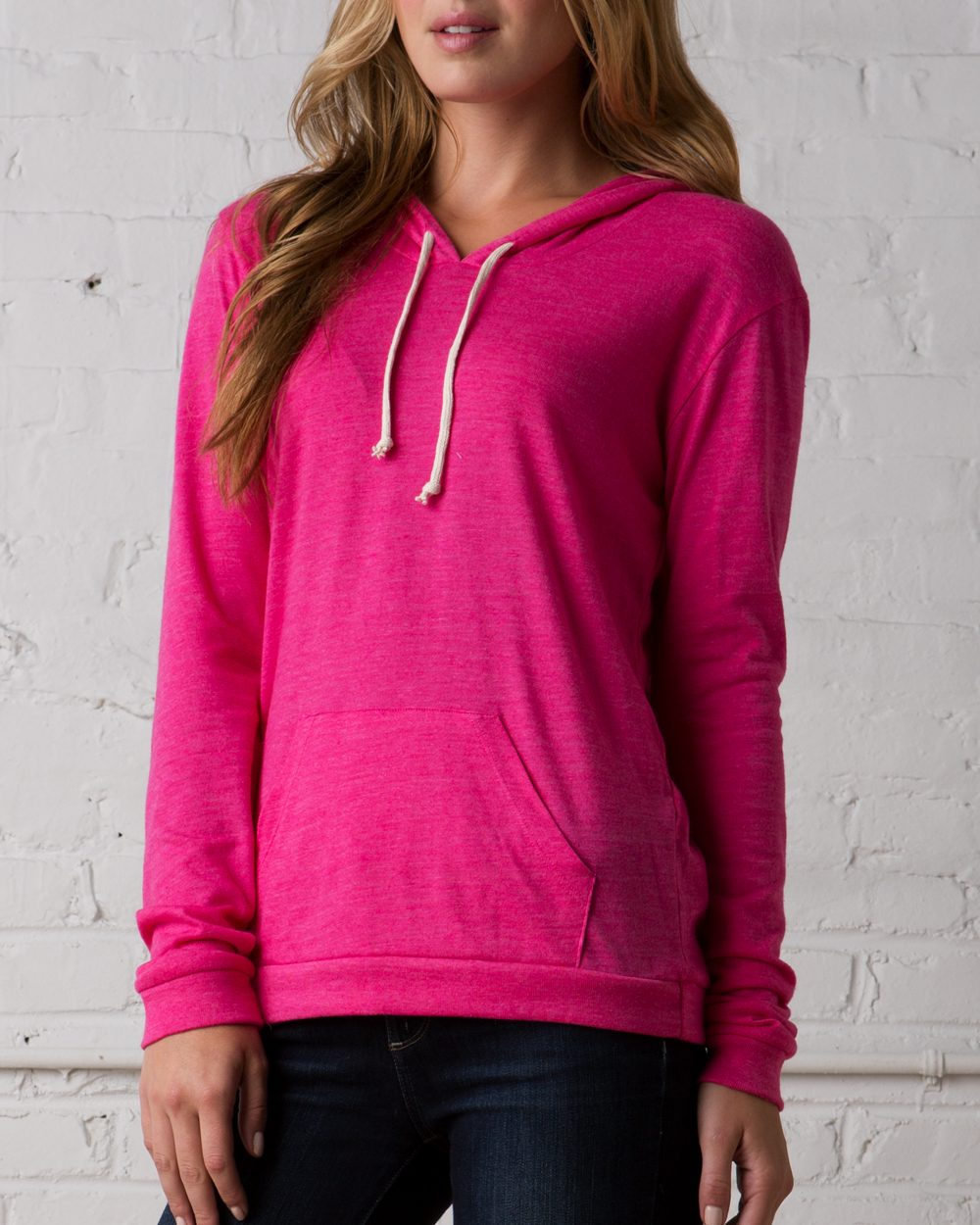 Alternative Ladies' Eco-Jersey Classic Hooded Pullover T-Shirt - 1928