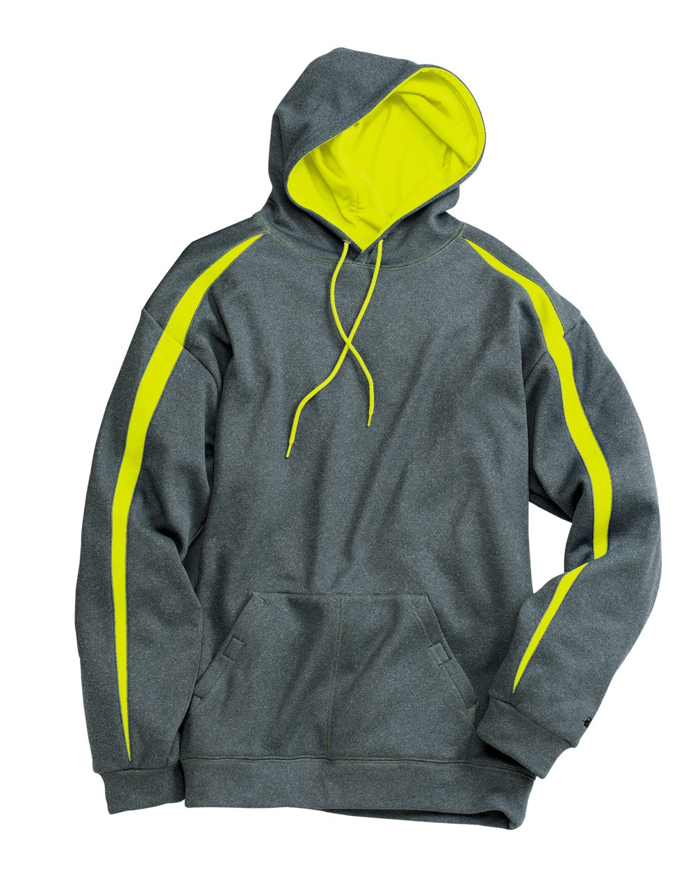 Badger Fusion Colorblock Polyester Fleece Hooded Pullover ...