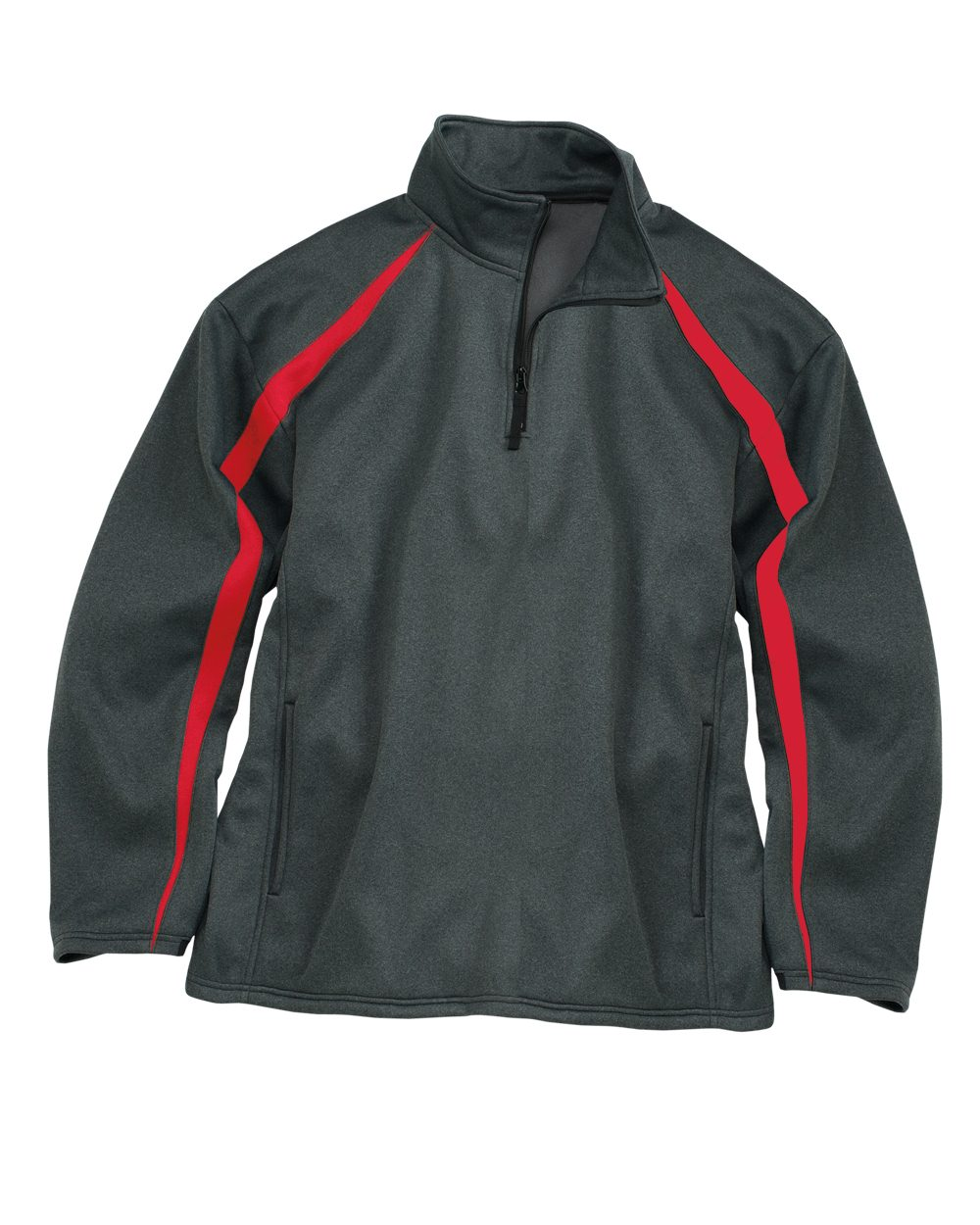 Badger Fusion Colorblock Polyester Fleece Quarter-Zip ...