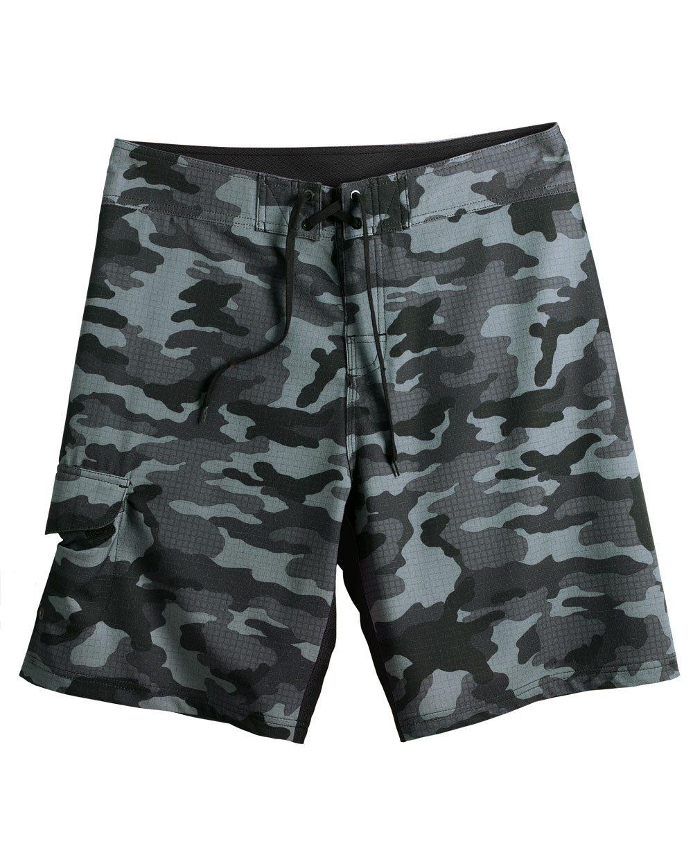 Burnside Camo-Diamond Dobby Board Shorts - B9371