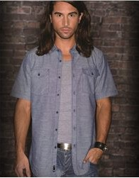 Burnside Chambray Short Sleeve Shirt - B9255