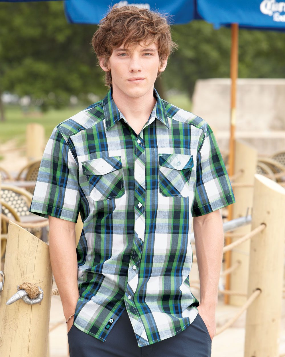 Burnside Plaid Short Sleeve Shirt - B9202