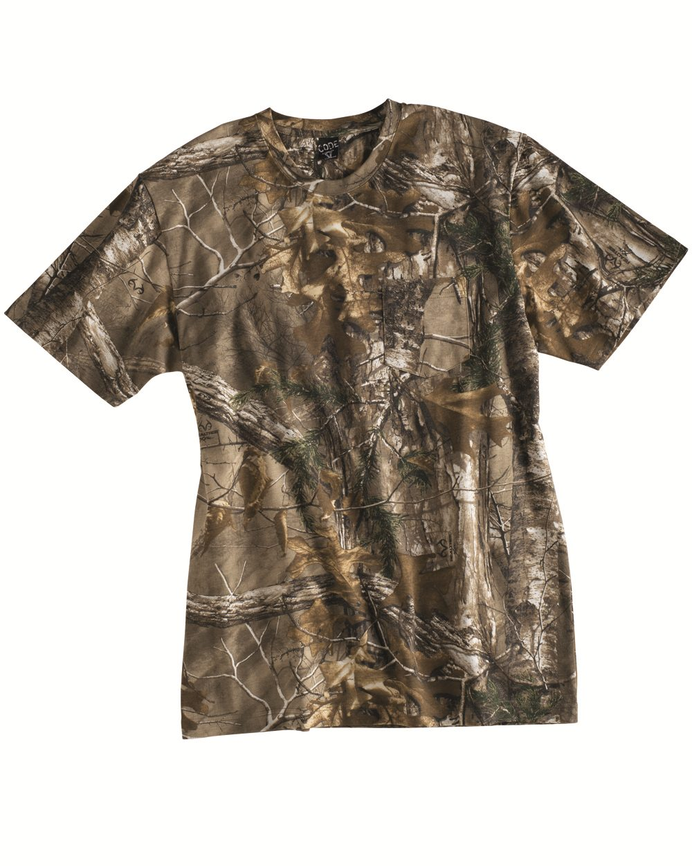 Code V Realtree® Camouflage Short Sleeve T-Shirt with a Pocket - 3982