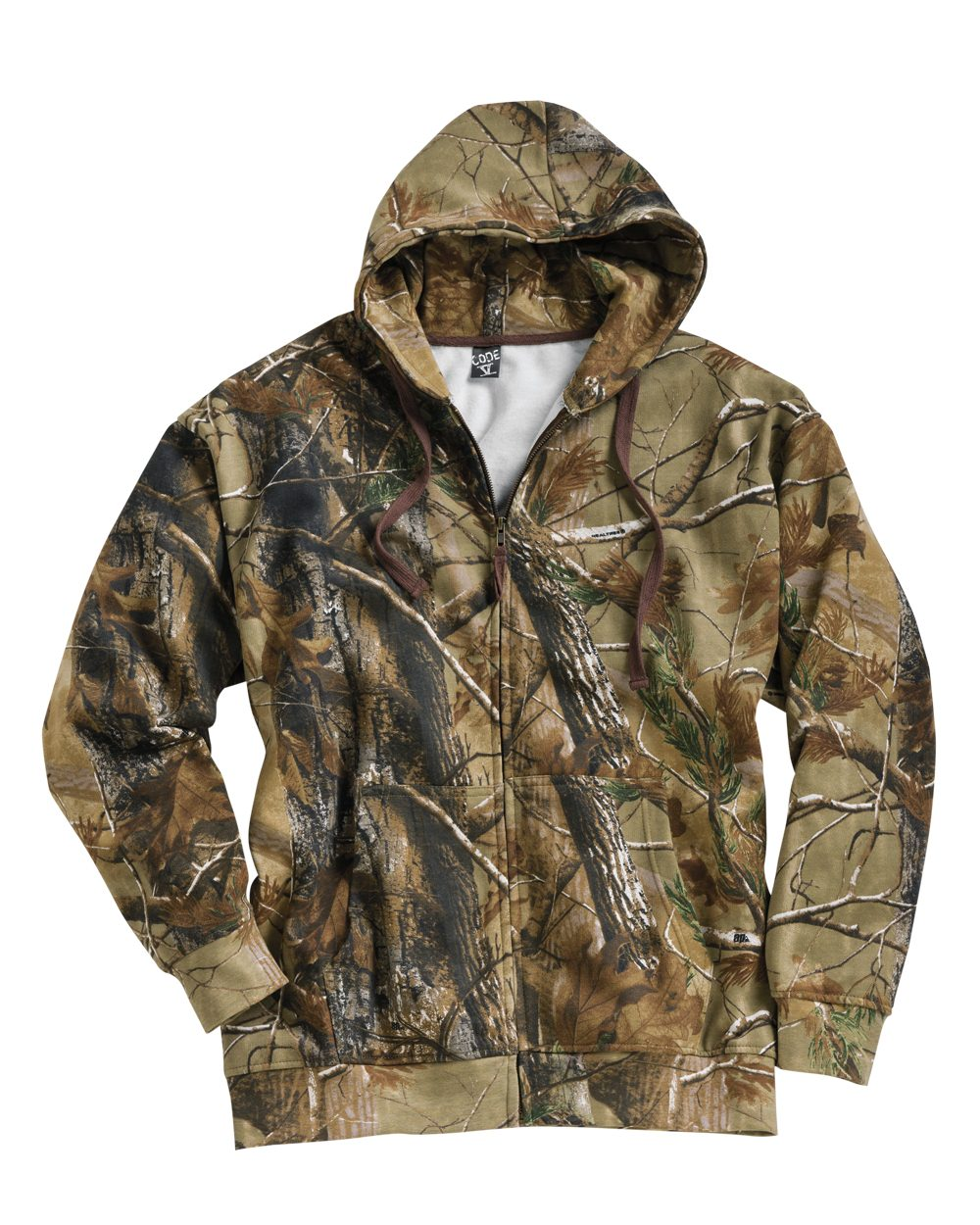 Code V Realtree® Hooded Full-Zip Sweatshirt - 3989