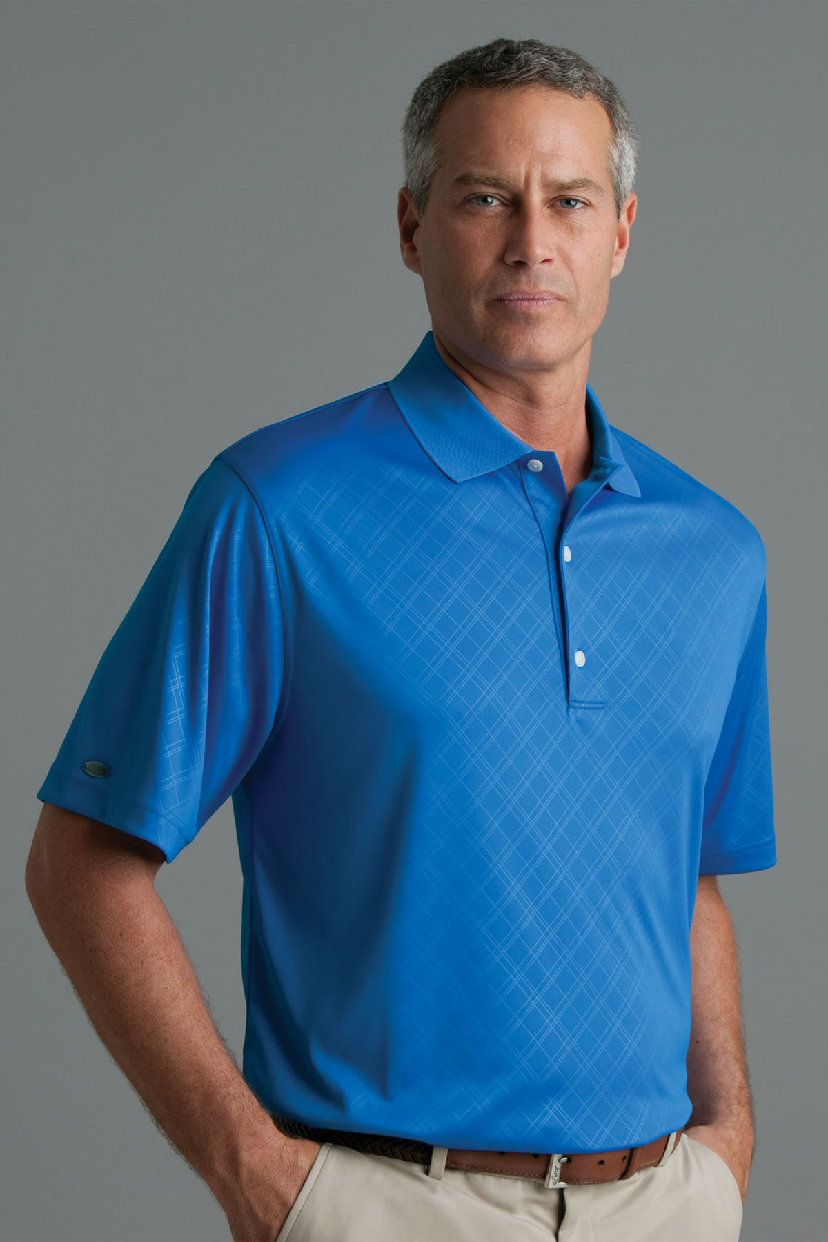 Greg Norman GNS0K435 - Play Dry® ML75 Diamond Embossed Polo