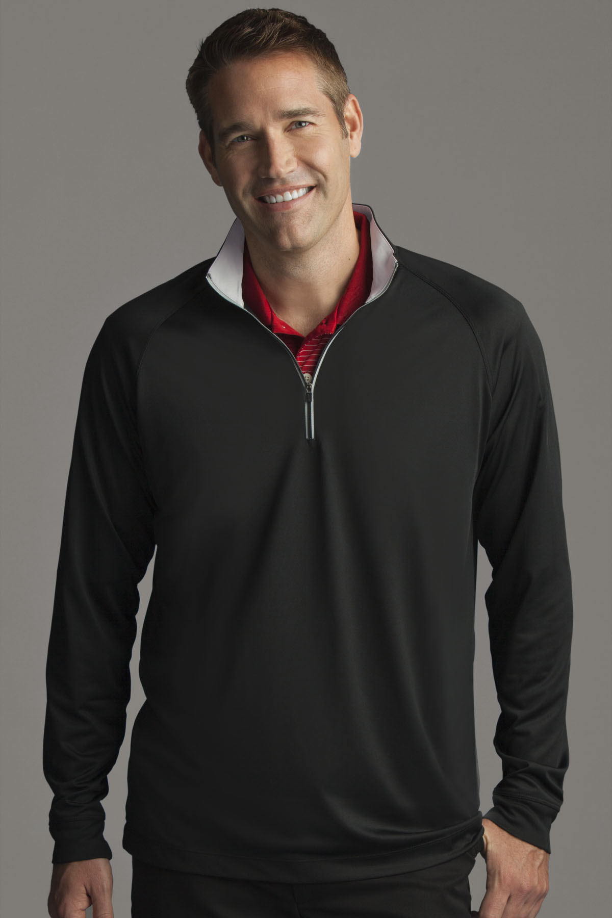 Greg Norman GNS2K997 - Play Dry® Quarter Zip Performance Mock