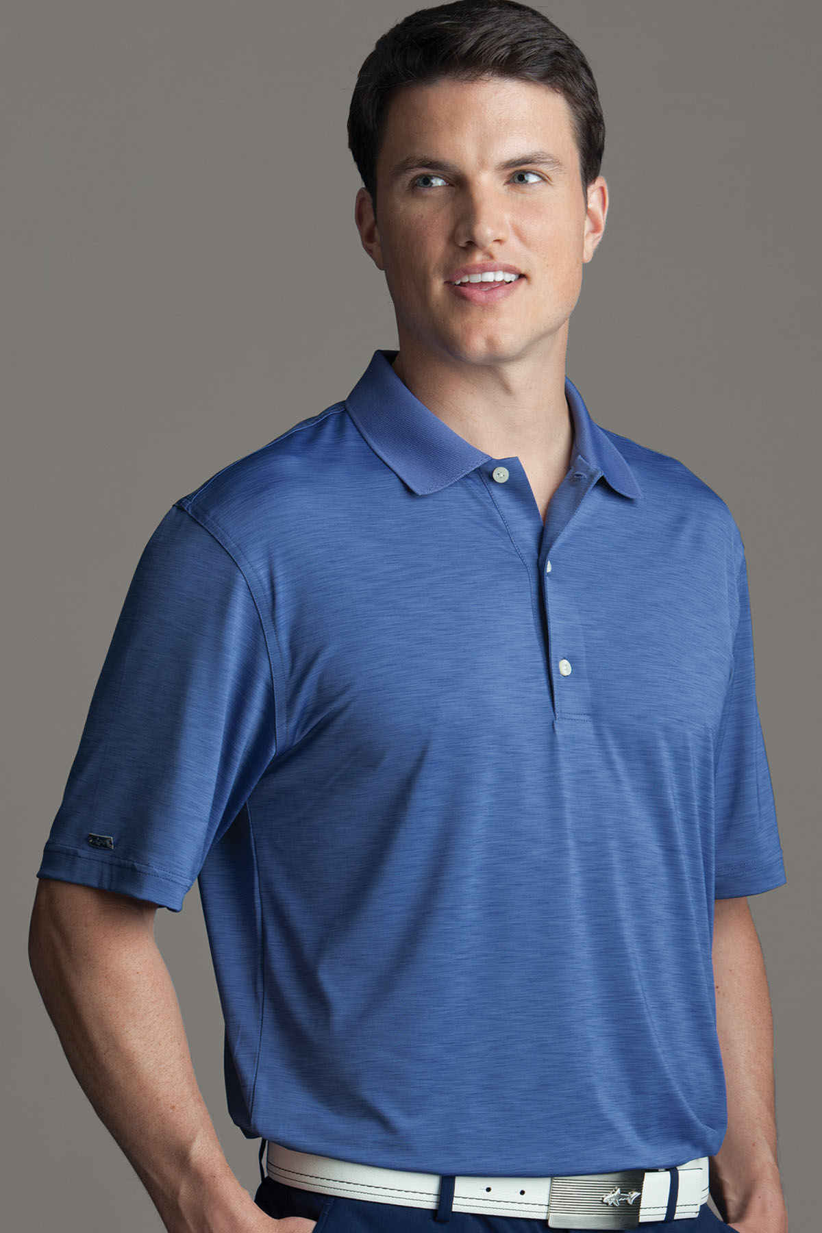 Greg Norman GNS3K430 - Play Dry® Heathered Polo
