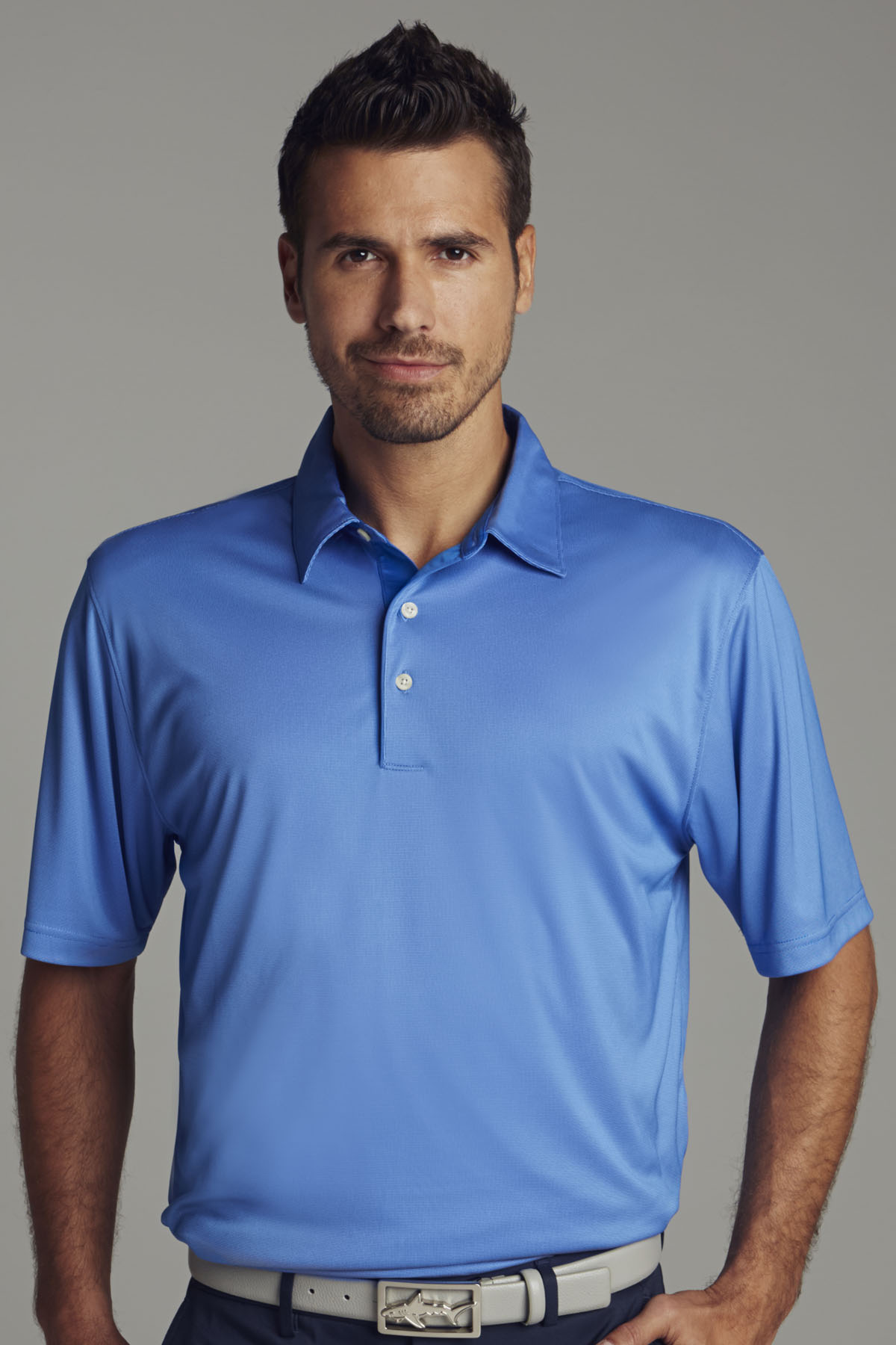 Greg Norman GNS4K460 - Play Dry® ML75 Nailhead Polo