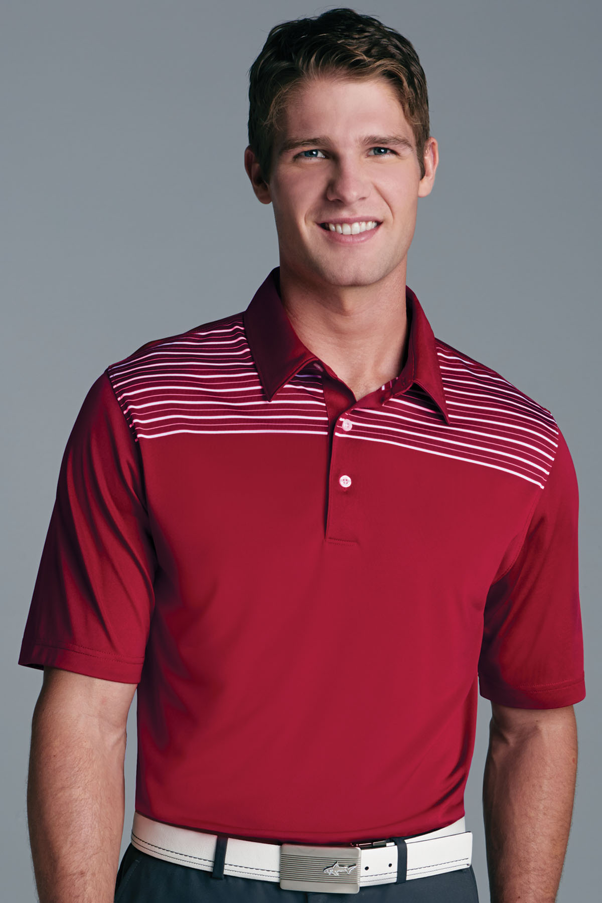 Greg Norman GNS4K465 - Play Dry® Engineered Shoulder Stripe Polo