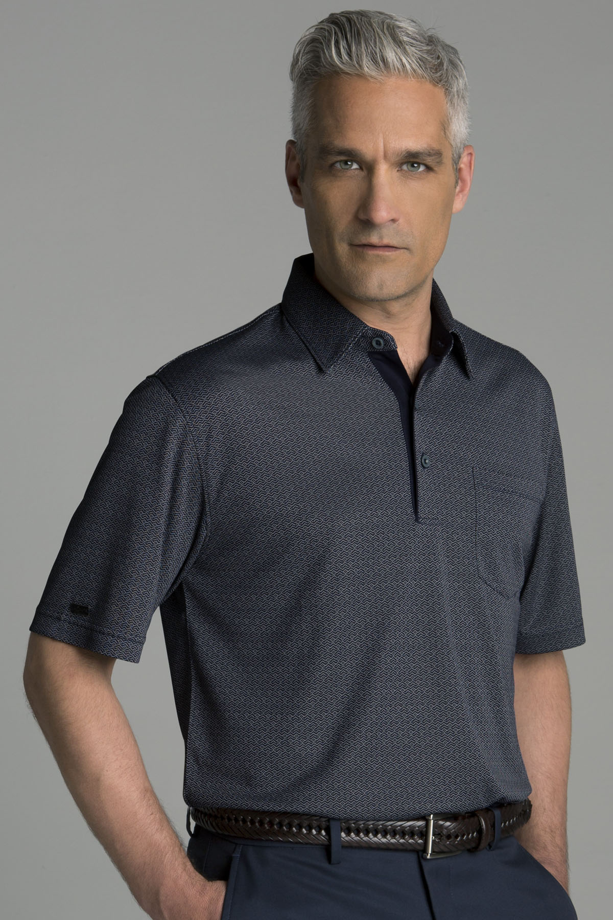 Greg Norman GNS4K517 - Play Dry® Fort Mason Jacquard Polo