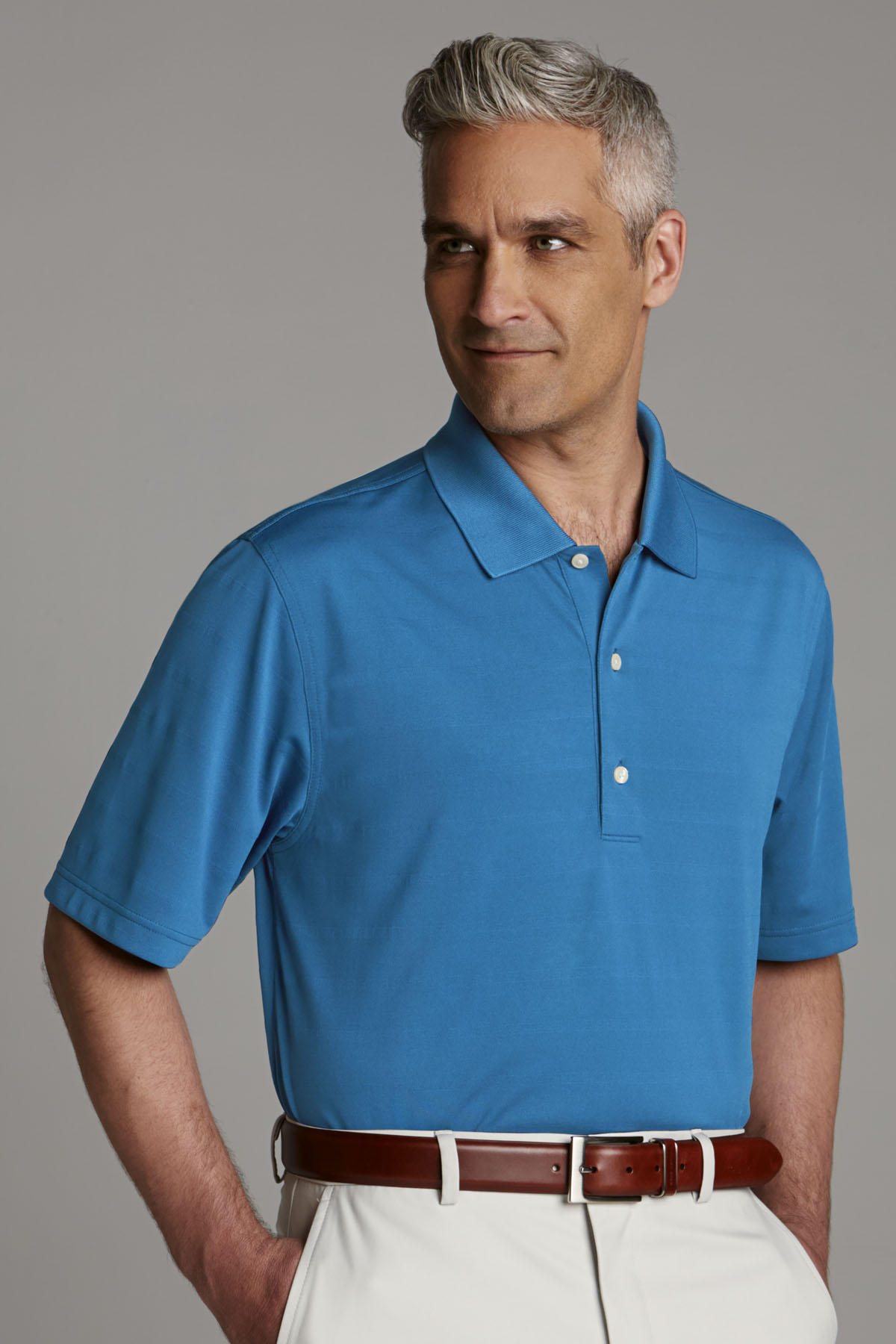Greg Norman GNS4K758 - Play Dry® Textured Polo