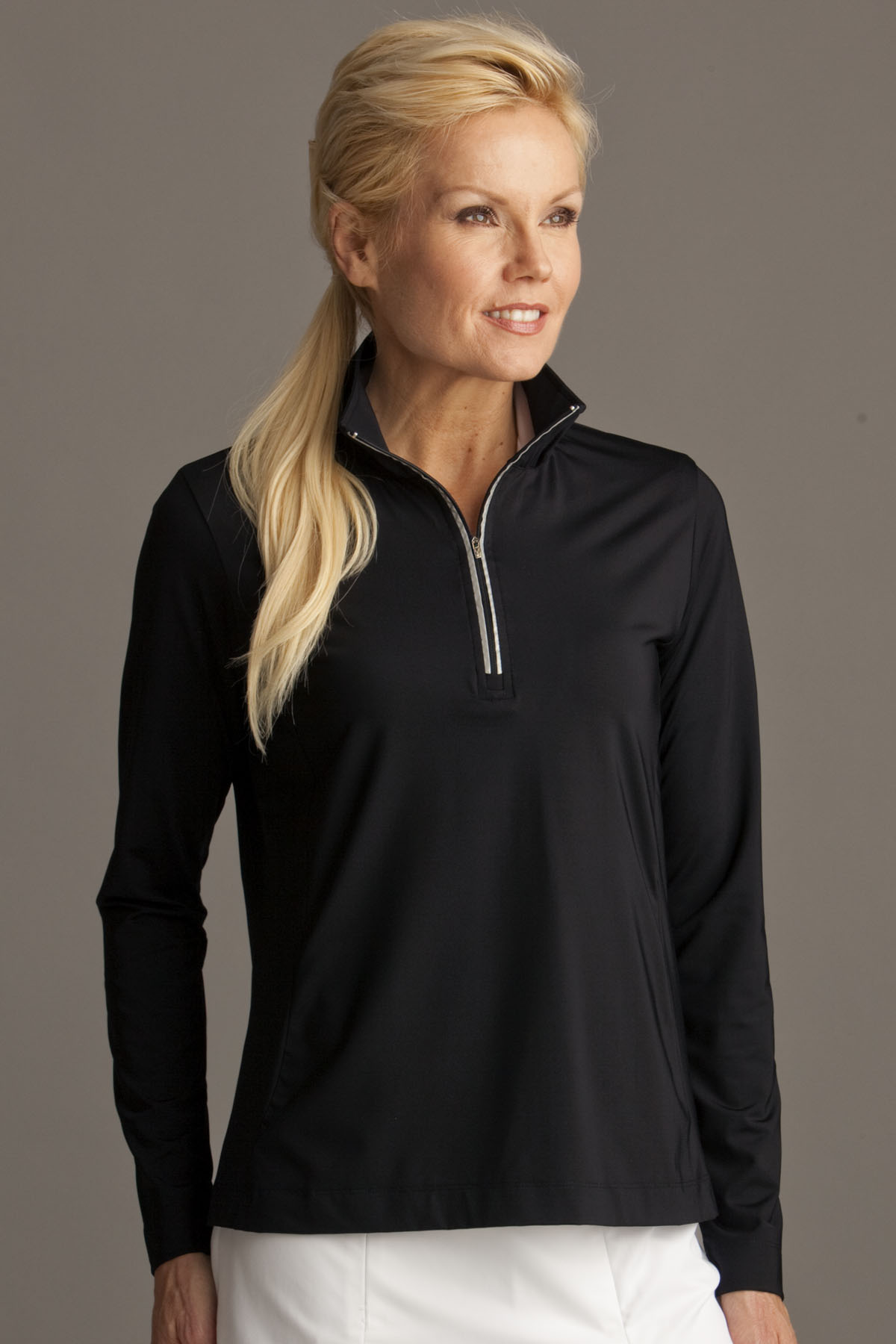 Greg Norman WNS2K451 - Play Dry® Quarter Zip Active Pullover