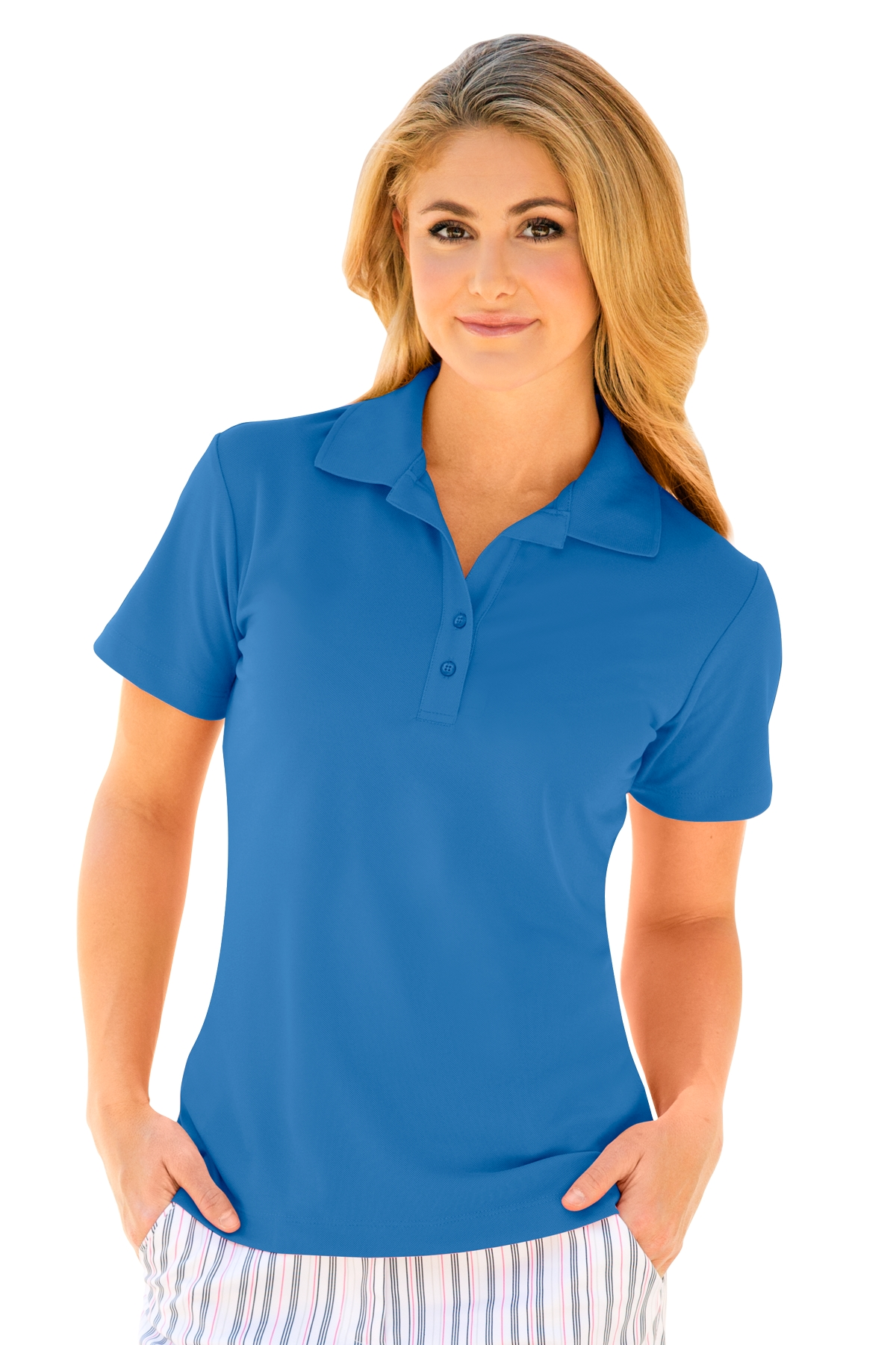 Greg Norman WNS3K445 - Women's Play Dry® Performance Mesh Polo