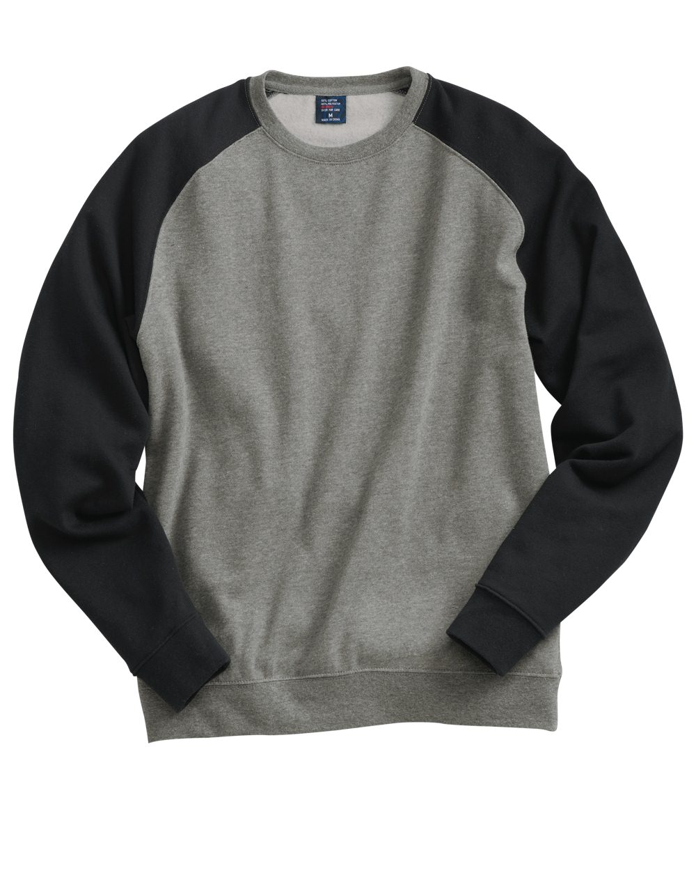 Independent Trading Co. Fitted Raglan Crewneck Sweatshirt ...