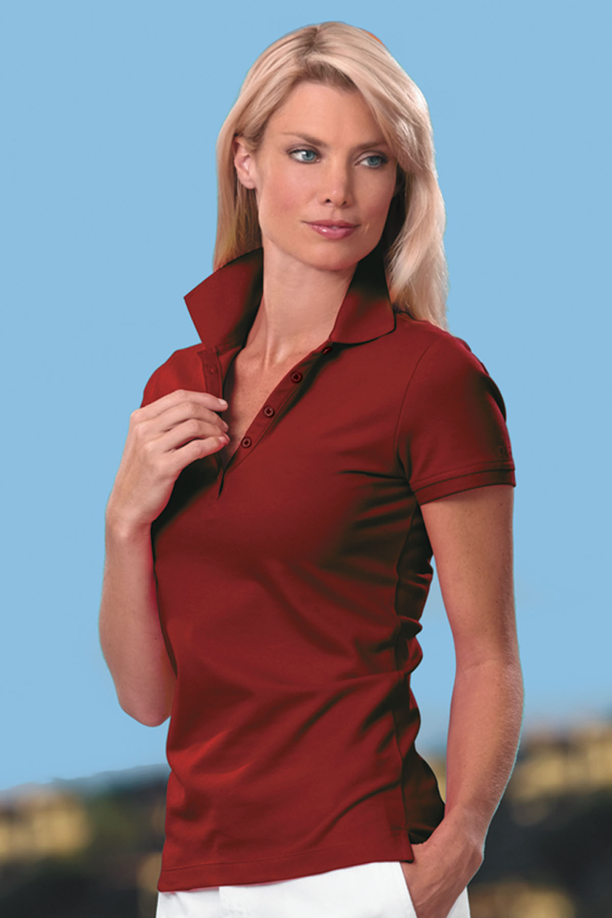 Izod IZOD0082 - Women's Pima Cool Polo