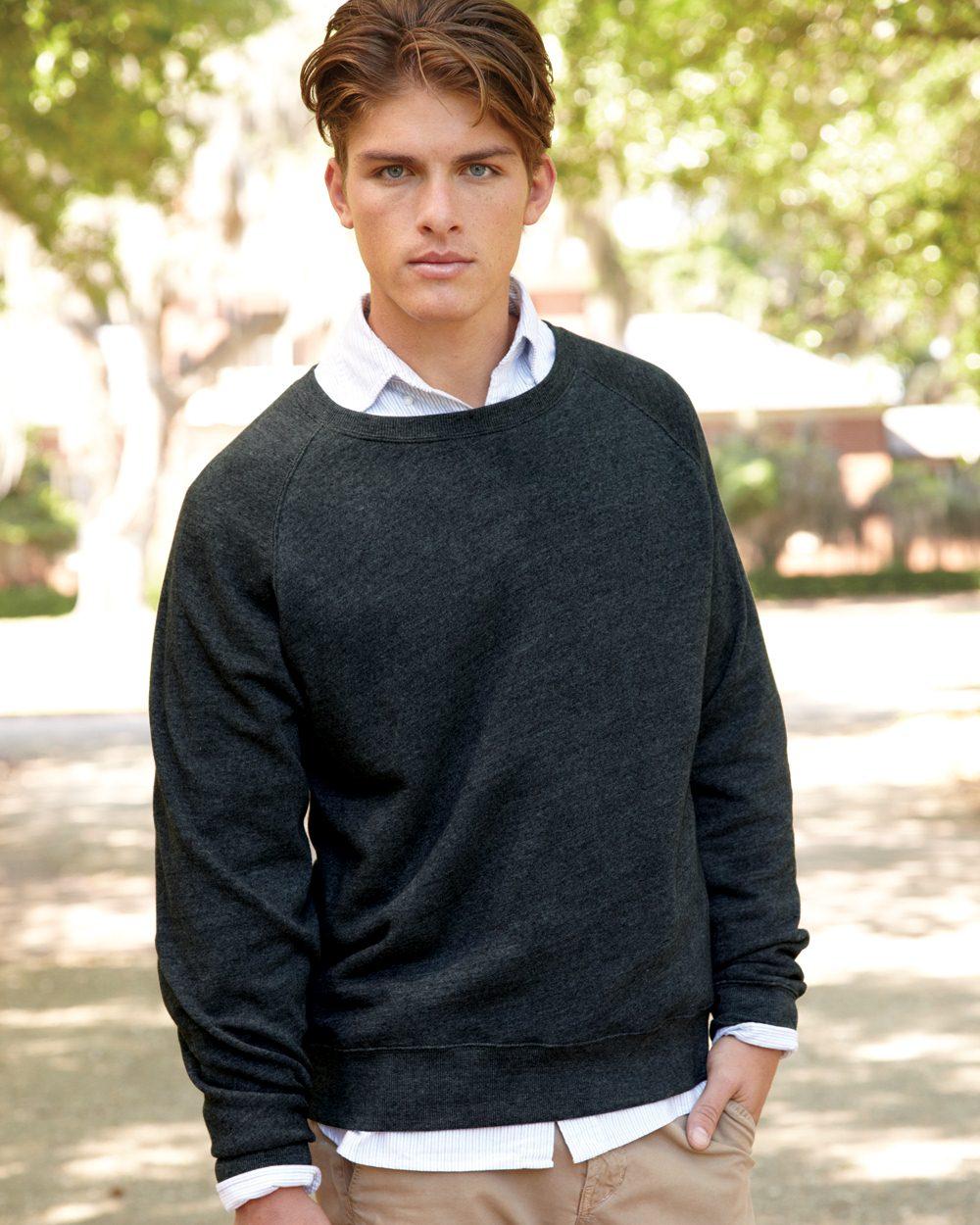 J. America Triblend Crewneck Sweatshirt - 8875