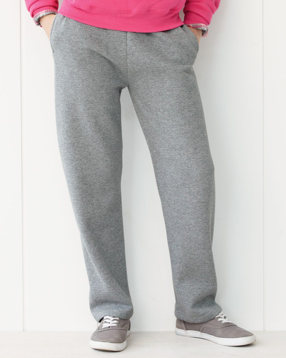 JERZEES Nublend® Youth 50/50 Open Bottom Sweatpants ...