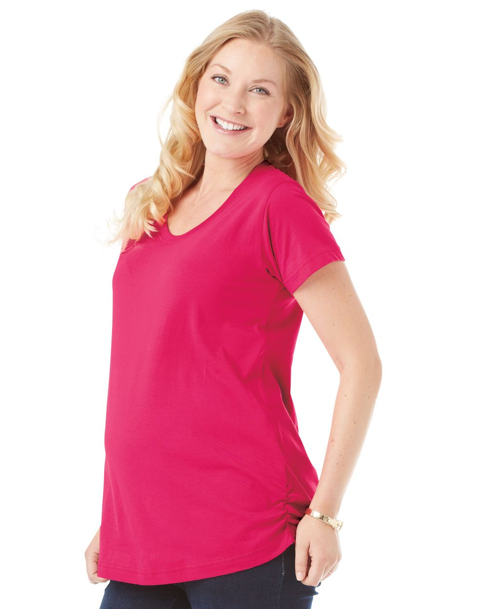 LAT Ladies' Scoopneck Maternity T-Shirt - 3509