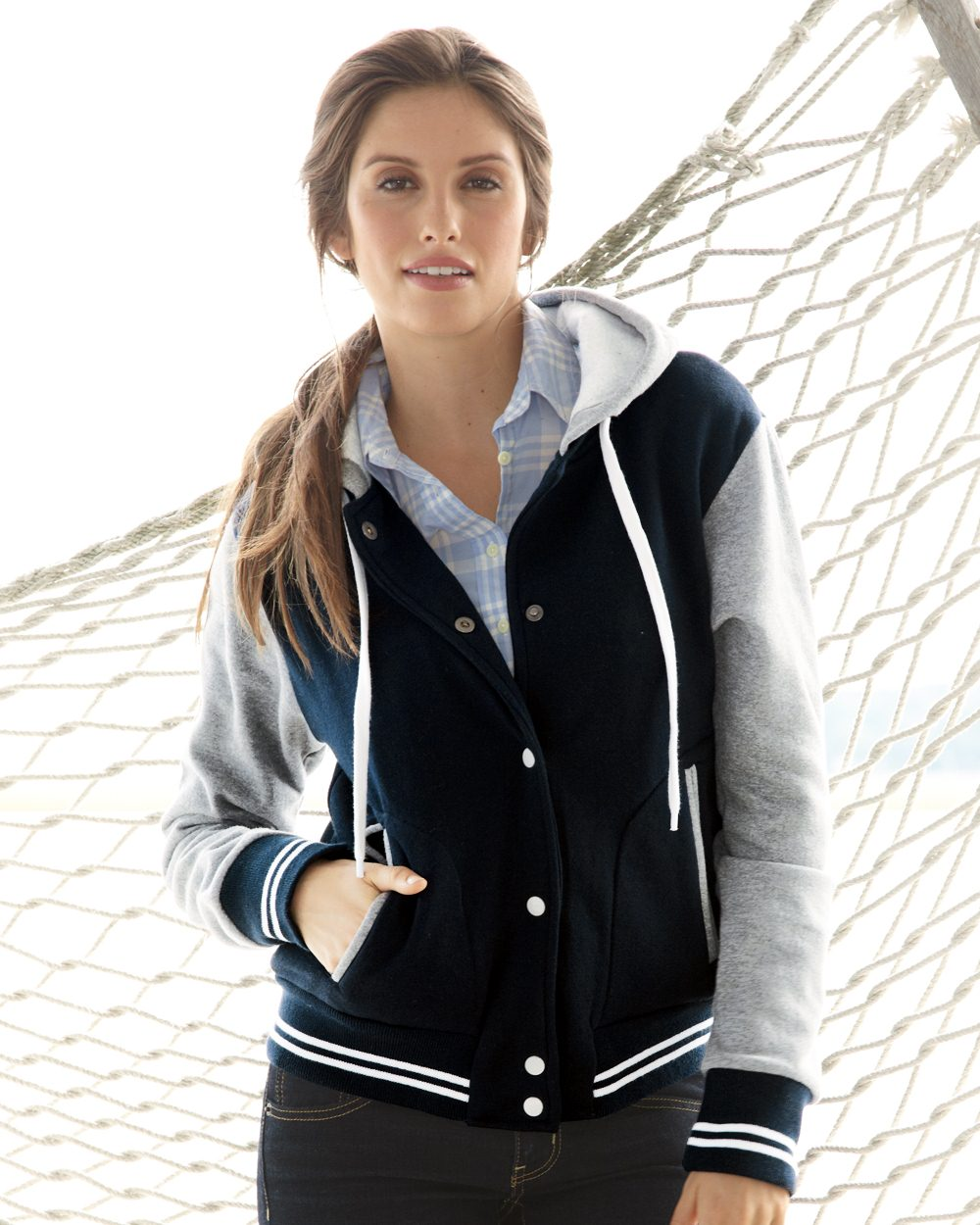MV Sport Ladies' Varsity Sweatshirt - W2344
