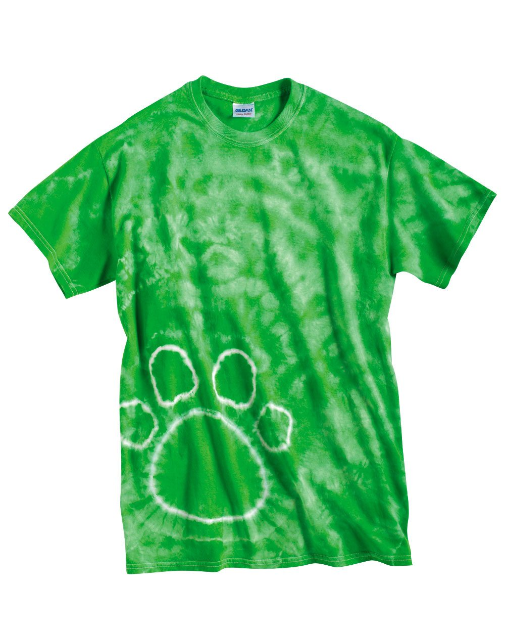 Tie-Dyed Pawprint Short Sleeve T-Shirt - 200PR