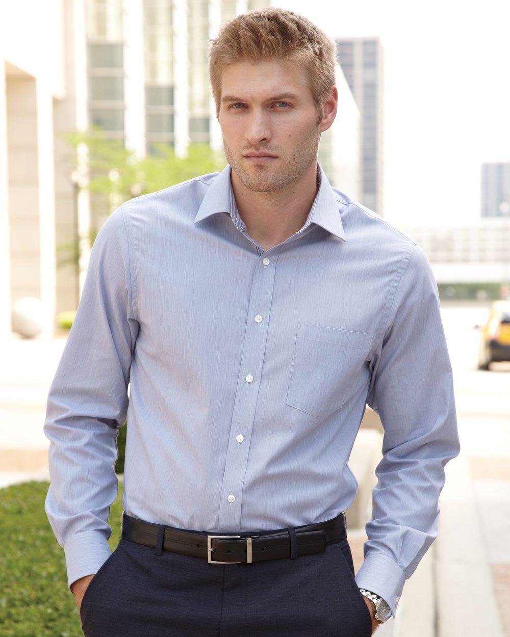 Van Heusen Classic Pincord Spread Collar Shirt - 13V0235