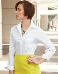 Van Heusen Ladies' Broadcloth Long Sleeve Shirt - 13V0216
