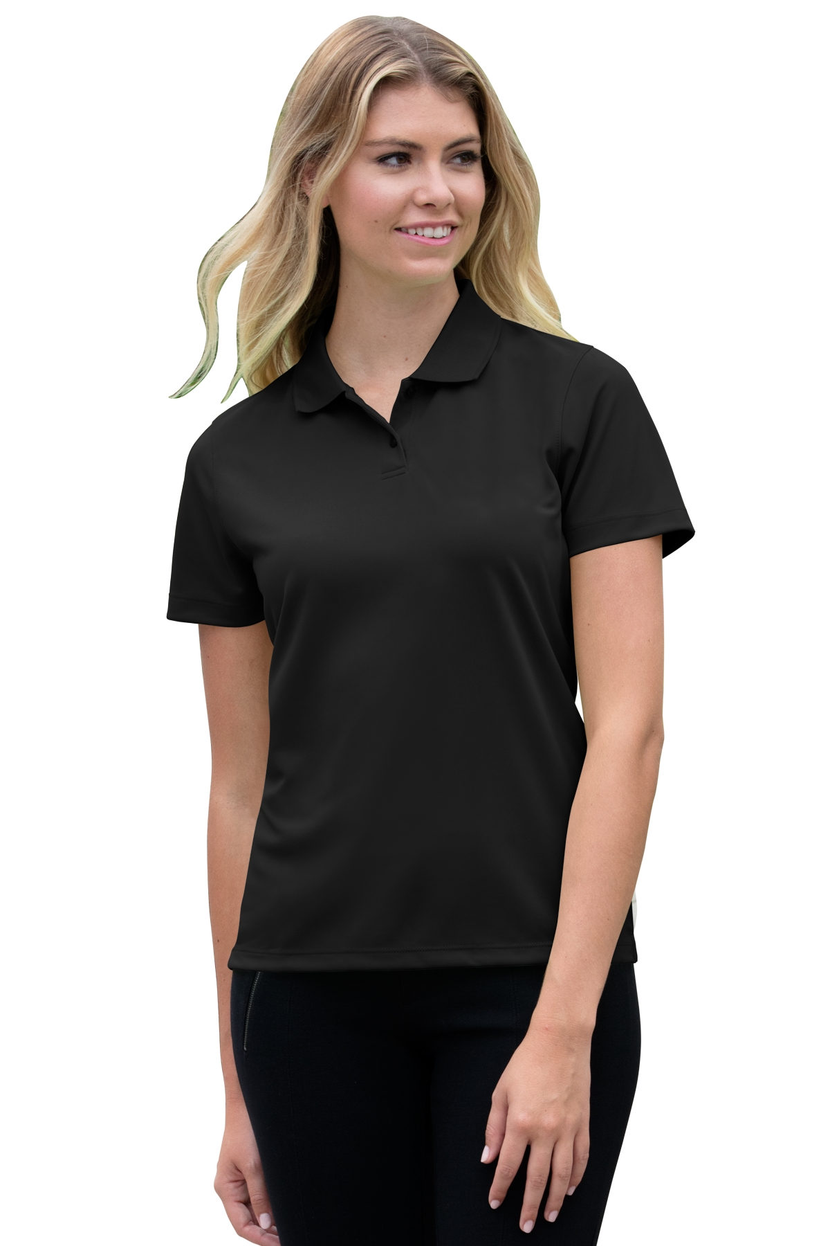 Vansport 2601 - Women's Omega Solid Mesh Tech Polo