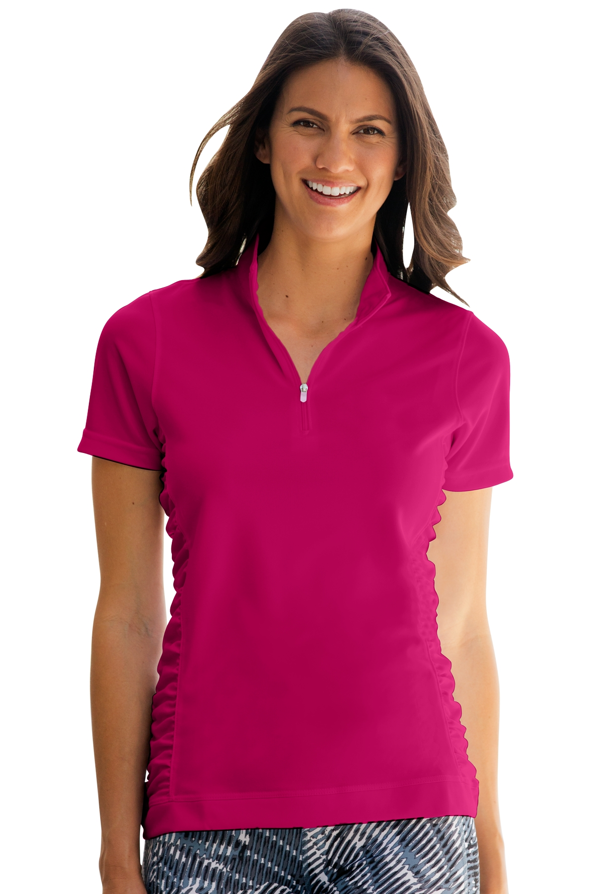 Vansport 2611 - Women's Omega Ruched Polo