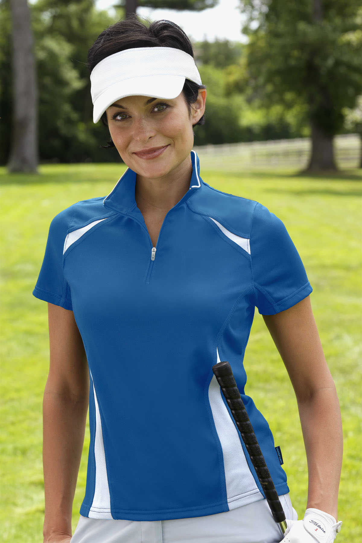 Vansport 2791 - Women's Body Mapped Blocked Polo