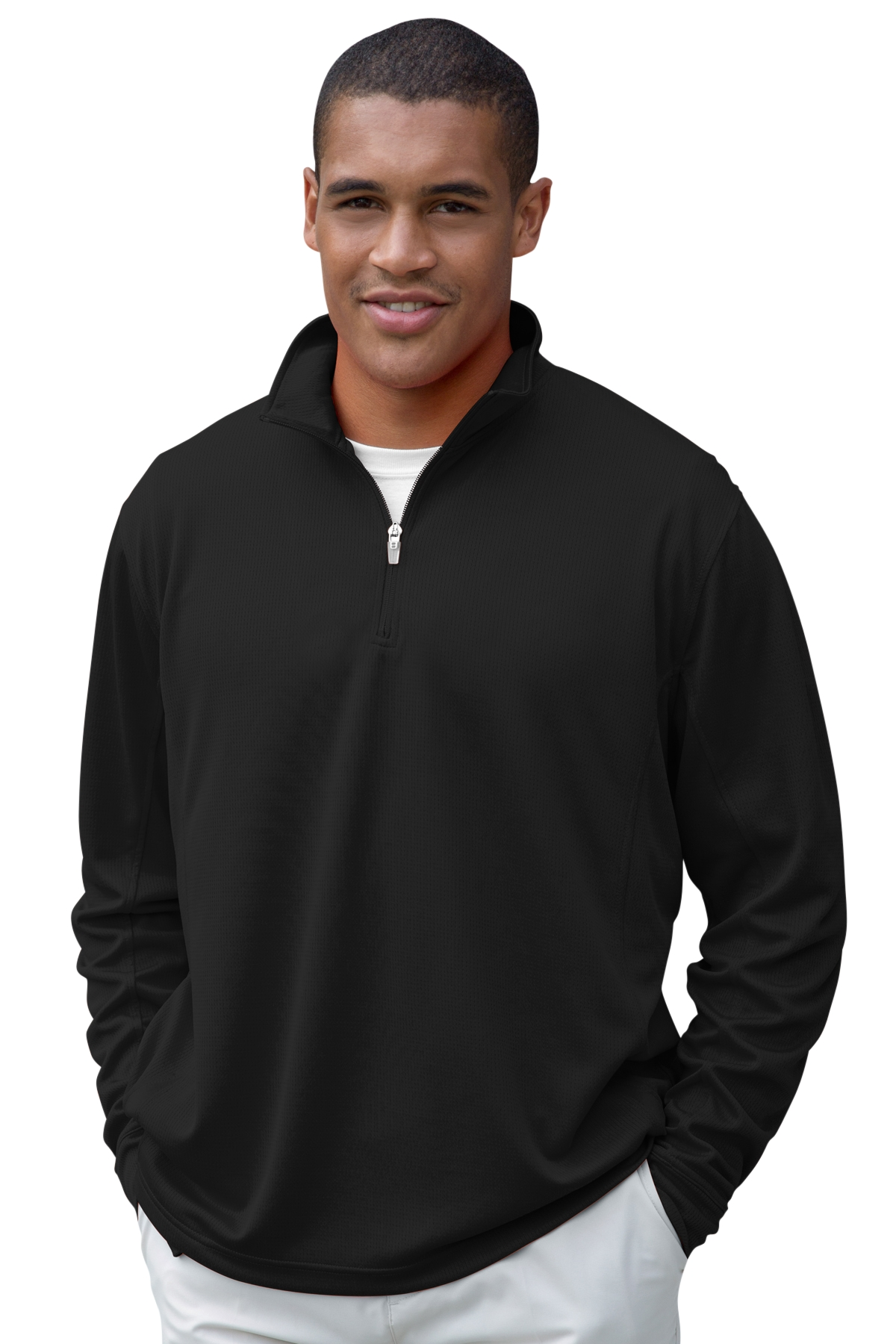 Vansport 3405 - Mesh One Quarter Zip Tech Pullover