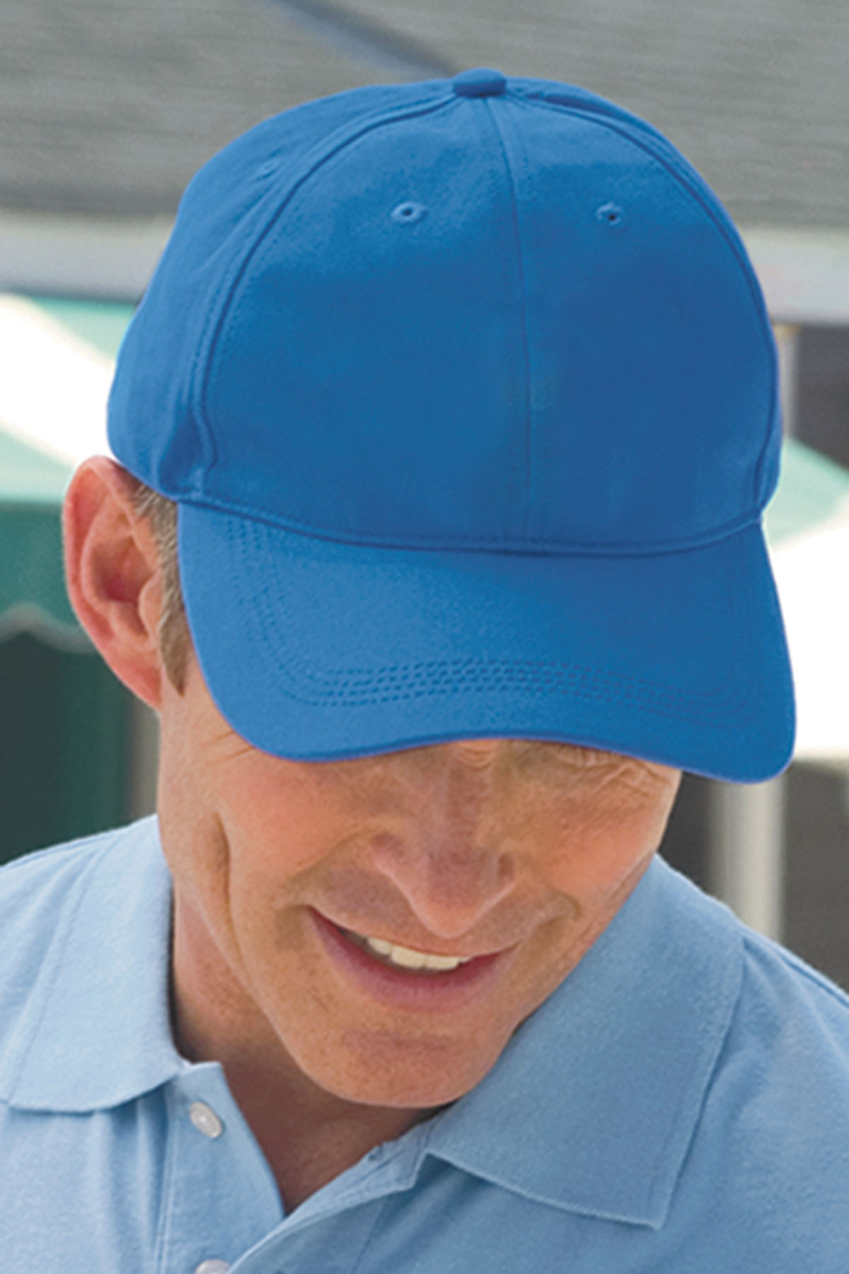 Vantage 0170 - Solid Brushed Twill Constructed Cap