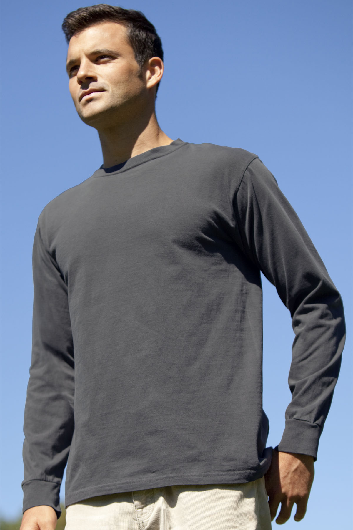 Vantage 0272 - Color Wash Long Sleeve T-Shirt