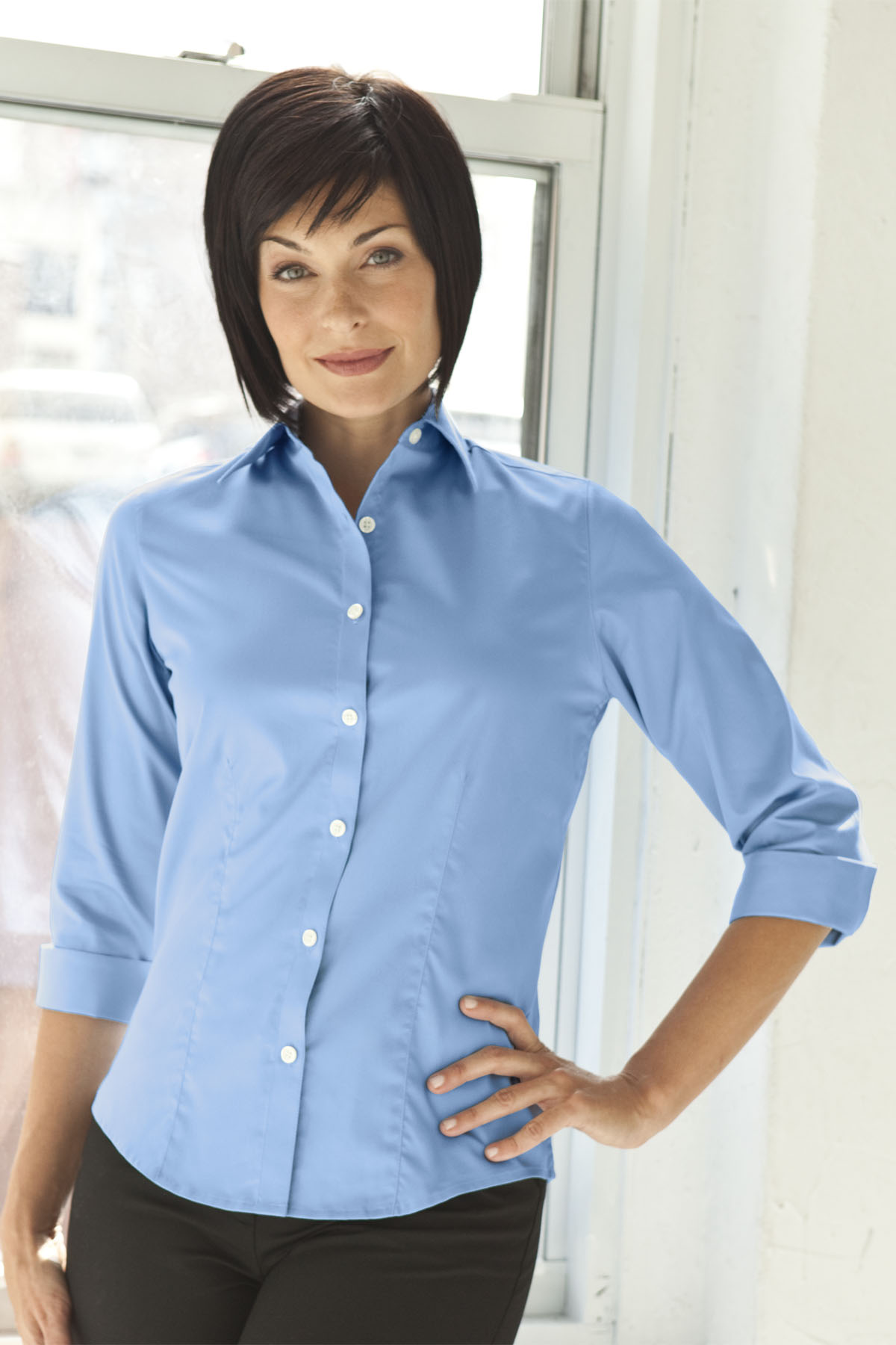 Vantage 1241 - Women's Easy-Care Three Quarter Sleeve ...