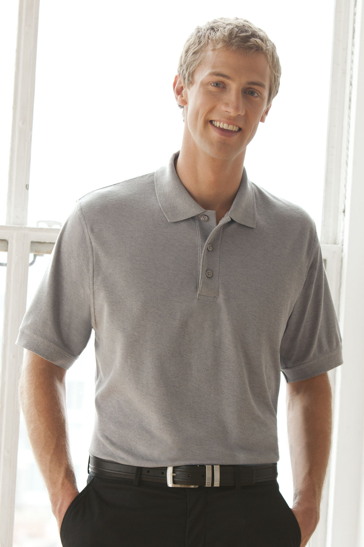 Vantage 2100 - Soft-Blend Double-Tuck Pique Polo