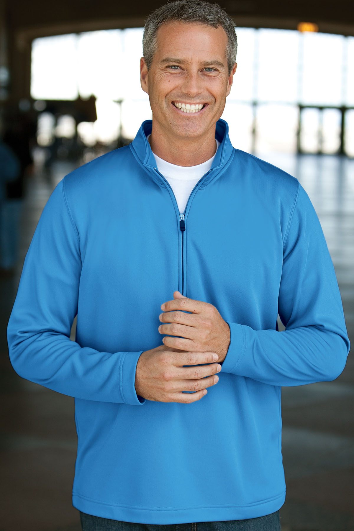 Vantage 3270 - Quarter Zip Brushed Back Micro-Fleece ...