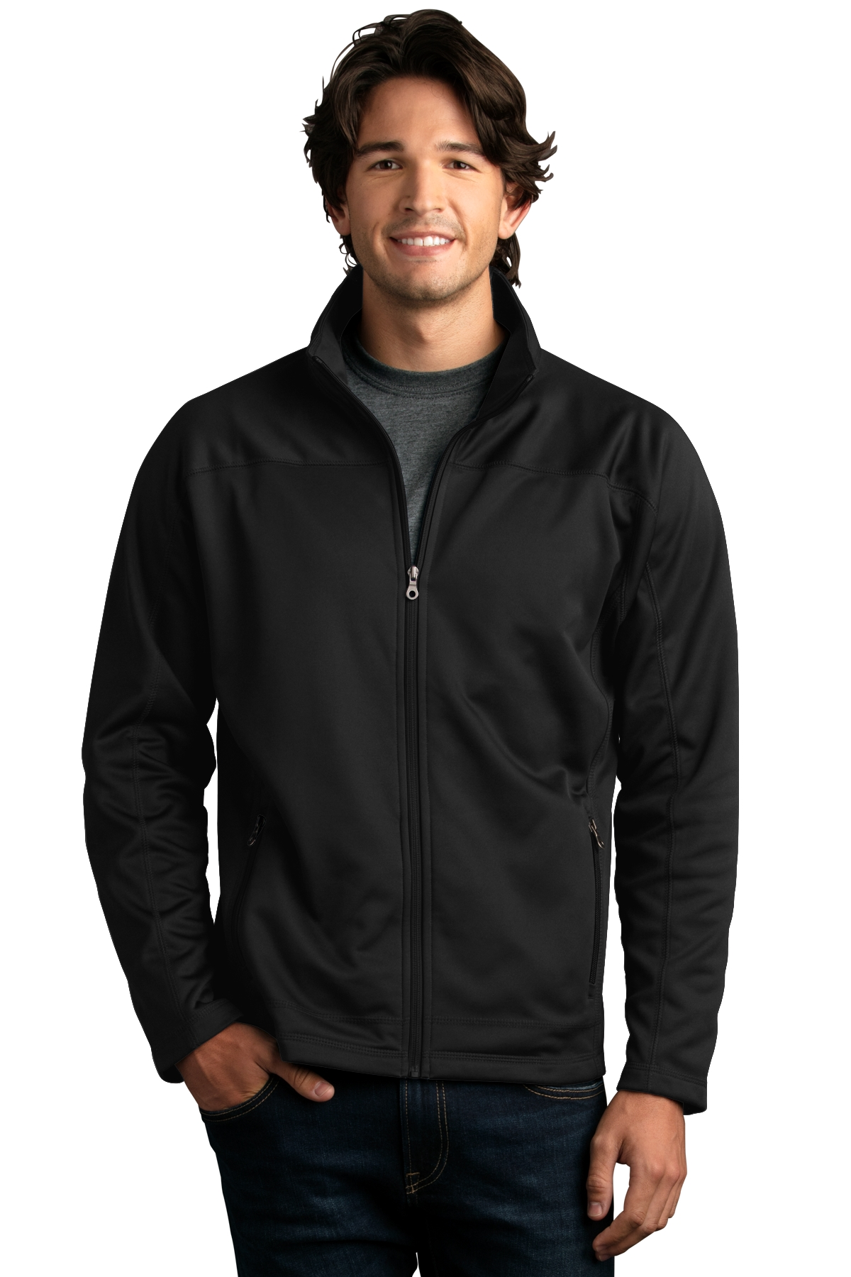 Vantage 3275 - Brushed Back Micro-Fleece Full-Zip Jacket