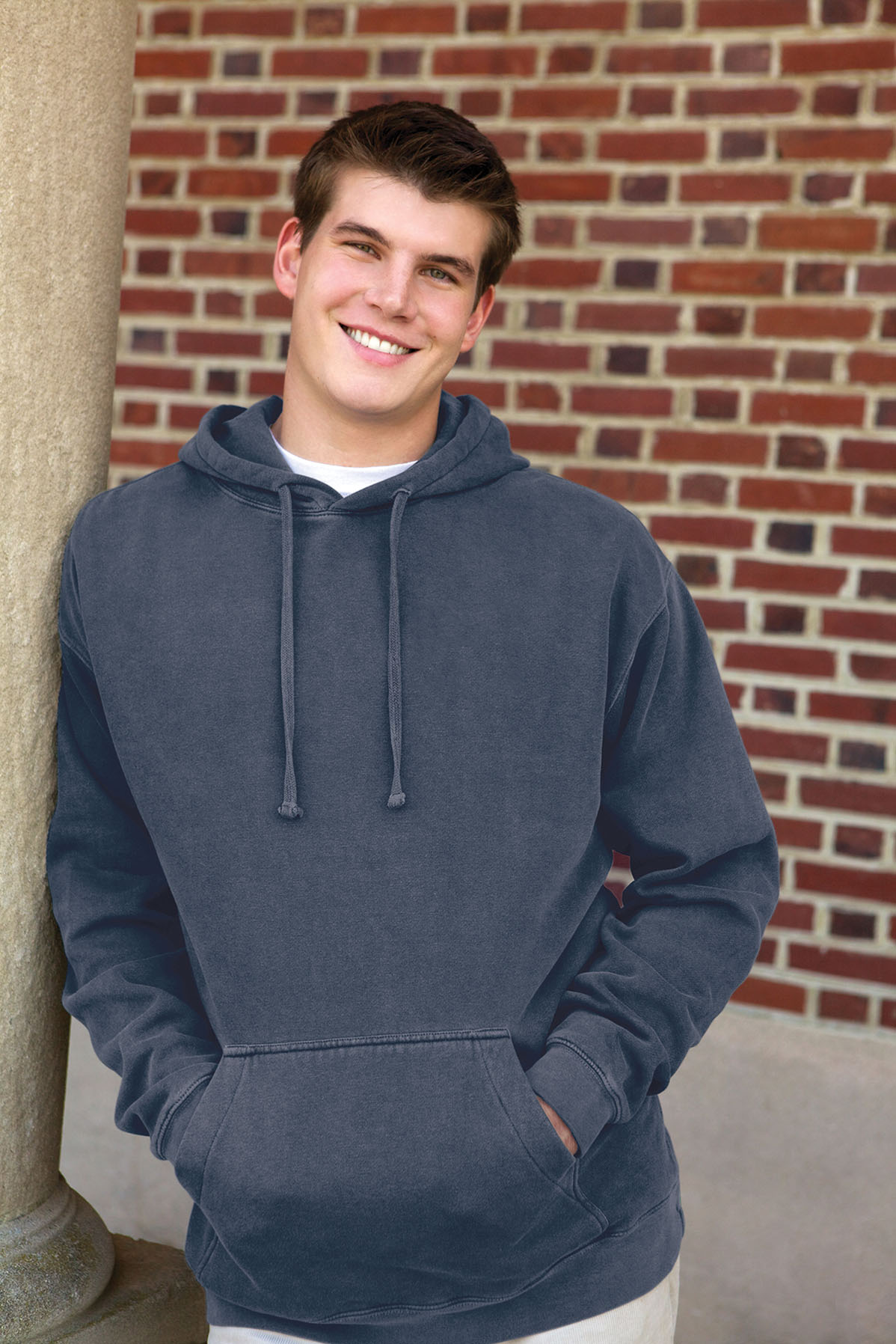 Vantage 3277 - Color Wash Fleece Pullover Hoodie