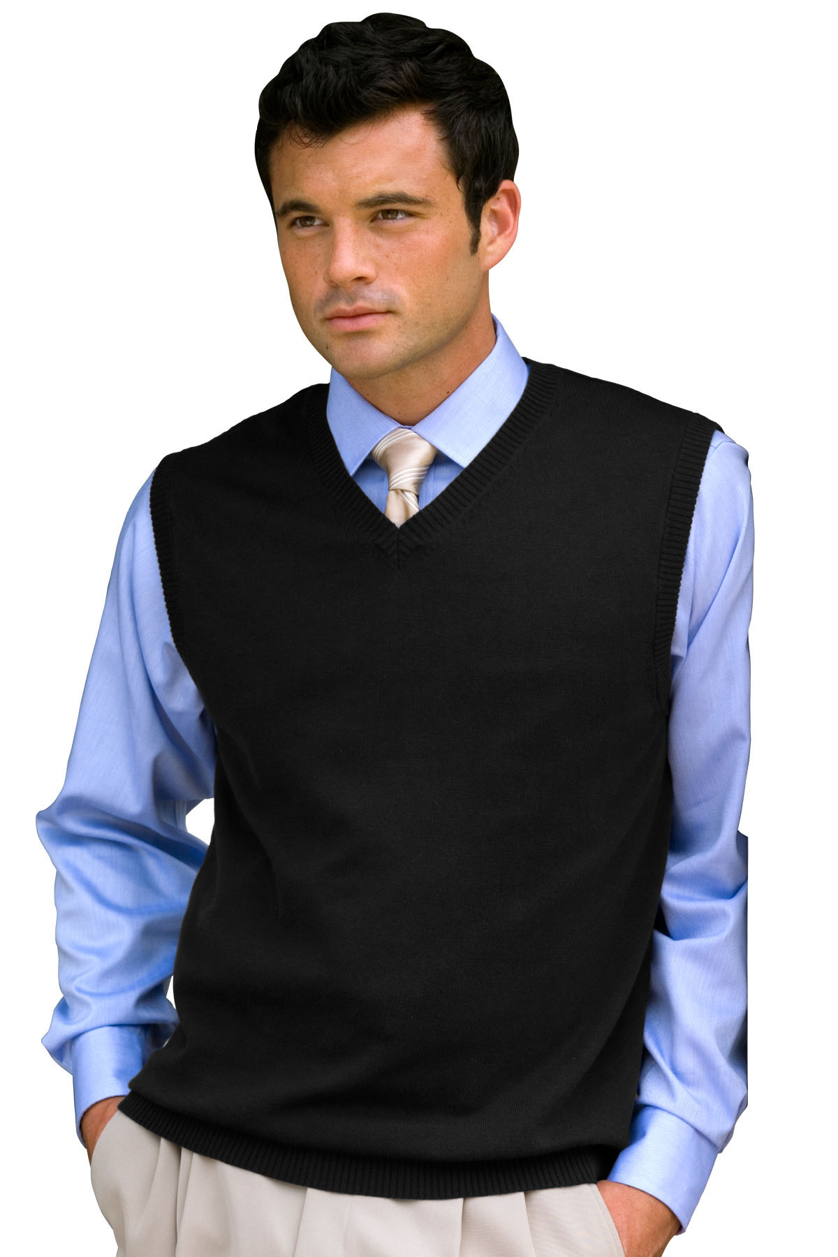 Vantage 5755 - Milano Knit Sweater Vest $24.84 - Men's Tanks