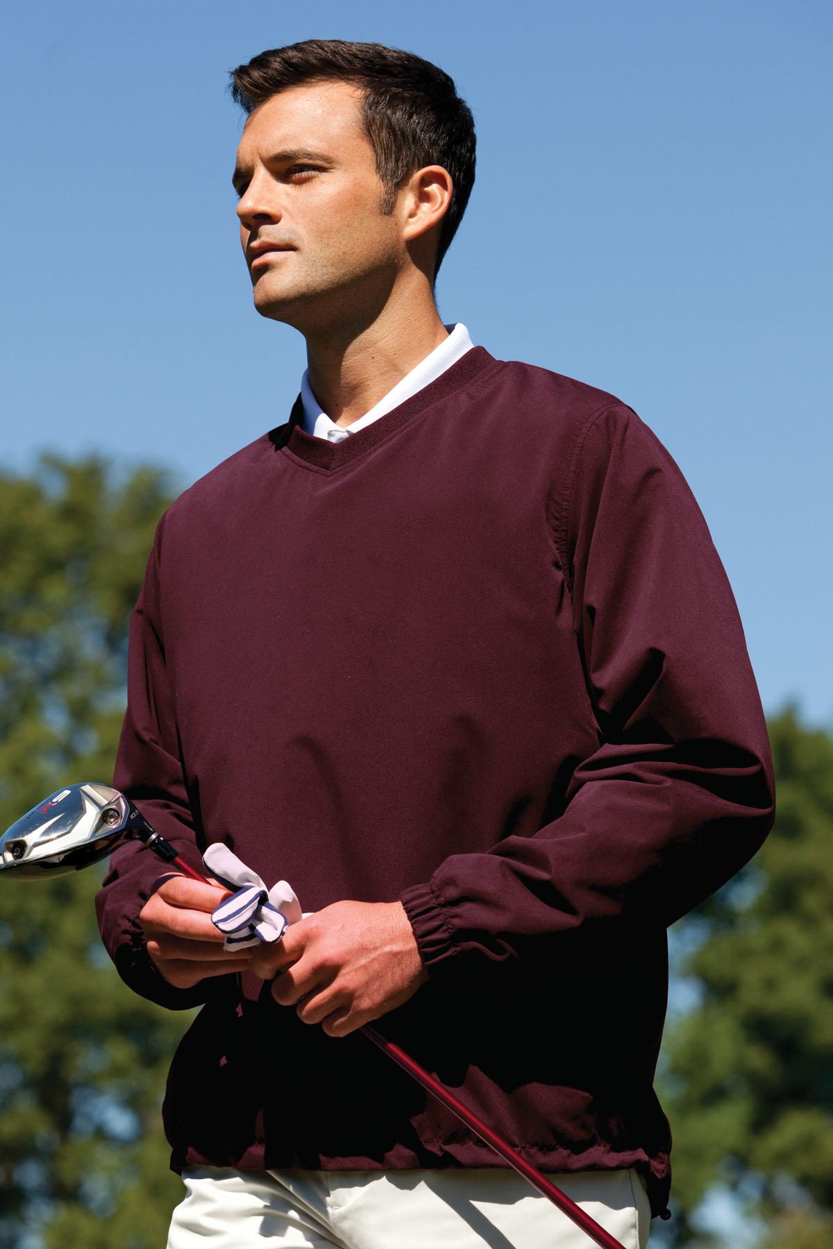 Vantage 6525 - V-Neck Microfiber Windshirt