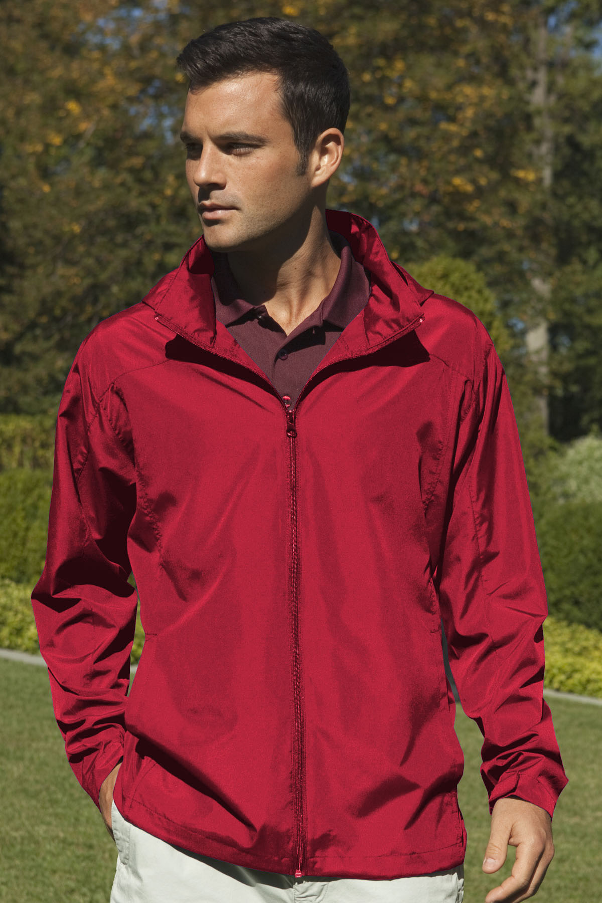 Vantage 7070 - Full-Zip Lightweight Hooded Jacket