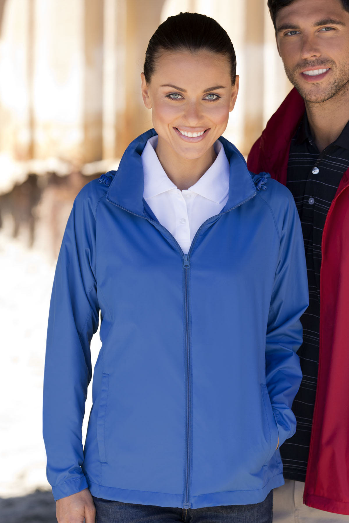 Vantage 7071 - Women's Full-Zip Lightweight Hooded Jacket