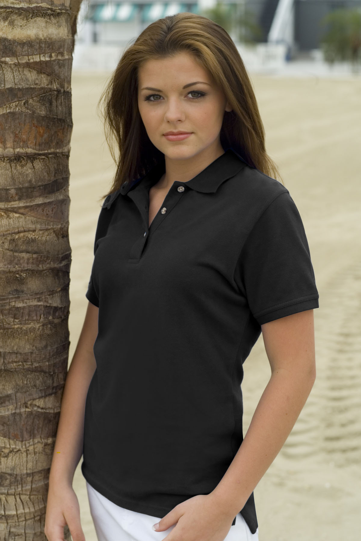 Velocity 2501 Womens Cotton Pique Polo 1177 Womens Sport Shirts