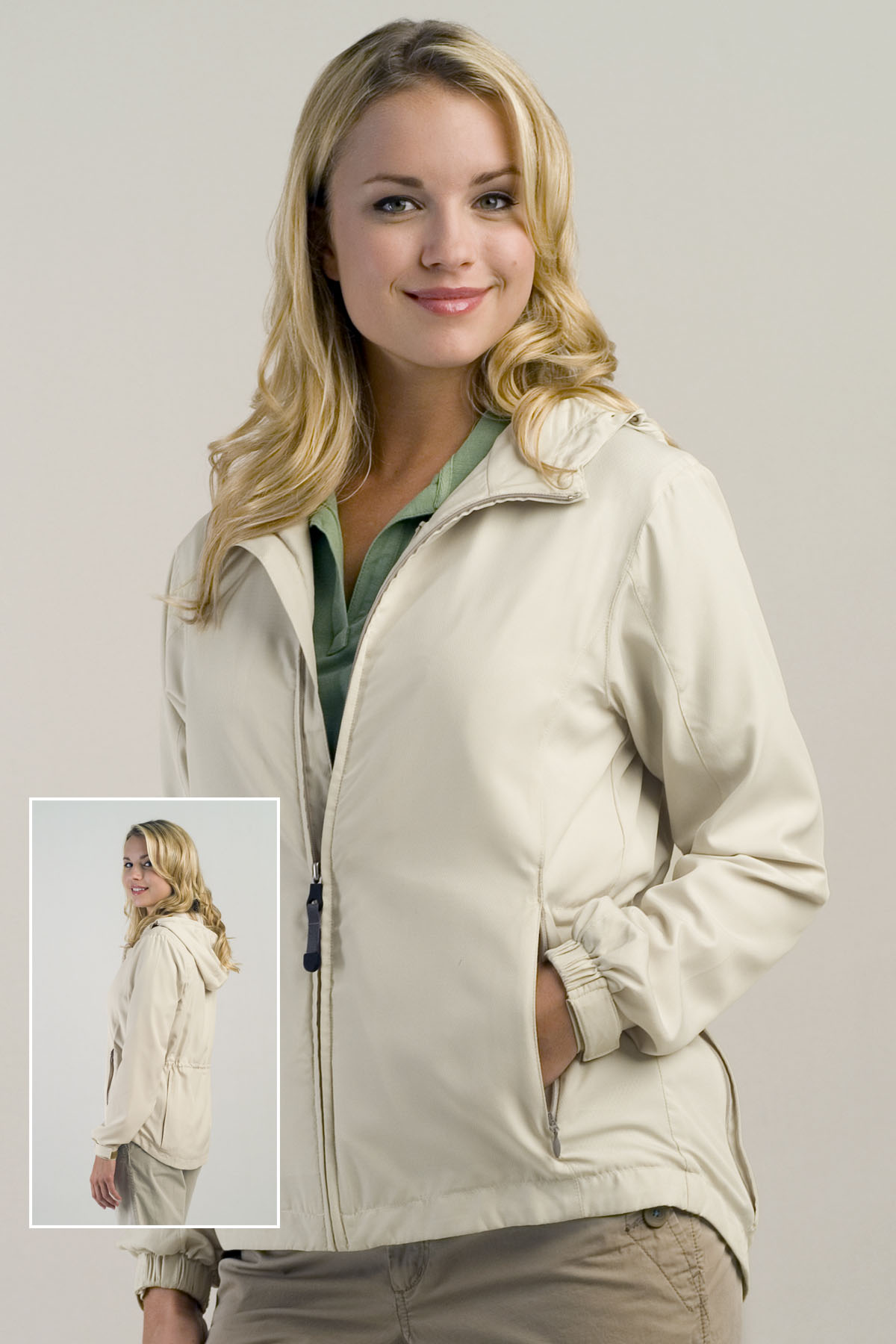 Vantage 7291 Women S Lightweight Packable Rain Jacket 30 78 Women S Outerwear