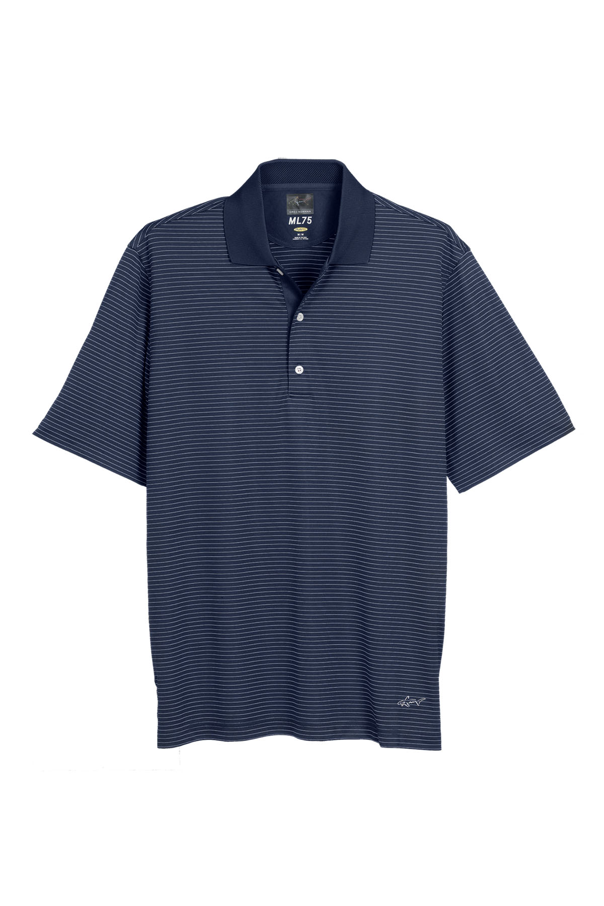 Greg norman gns3k424 play dry ml75 fine line stripe for Greg norman ml75 shirts