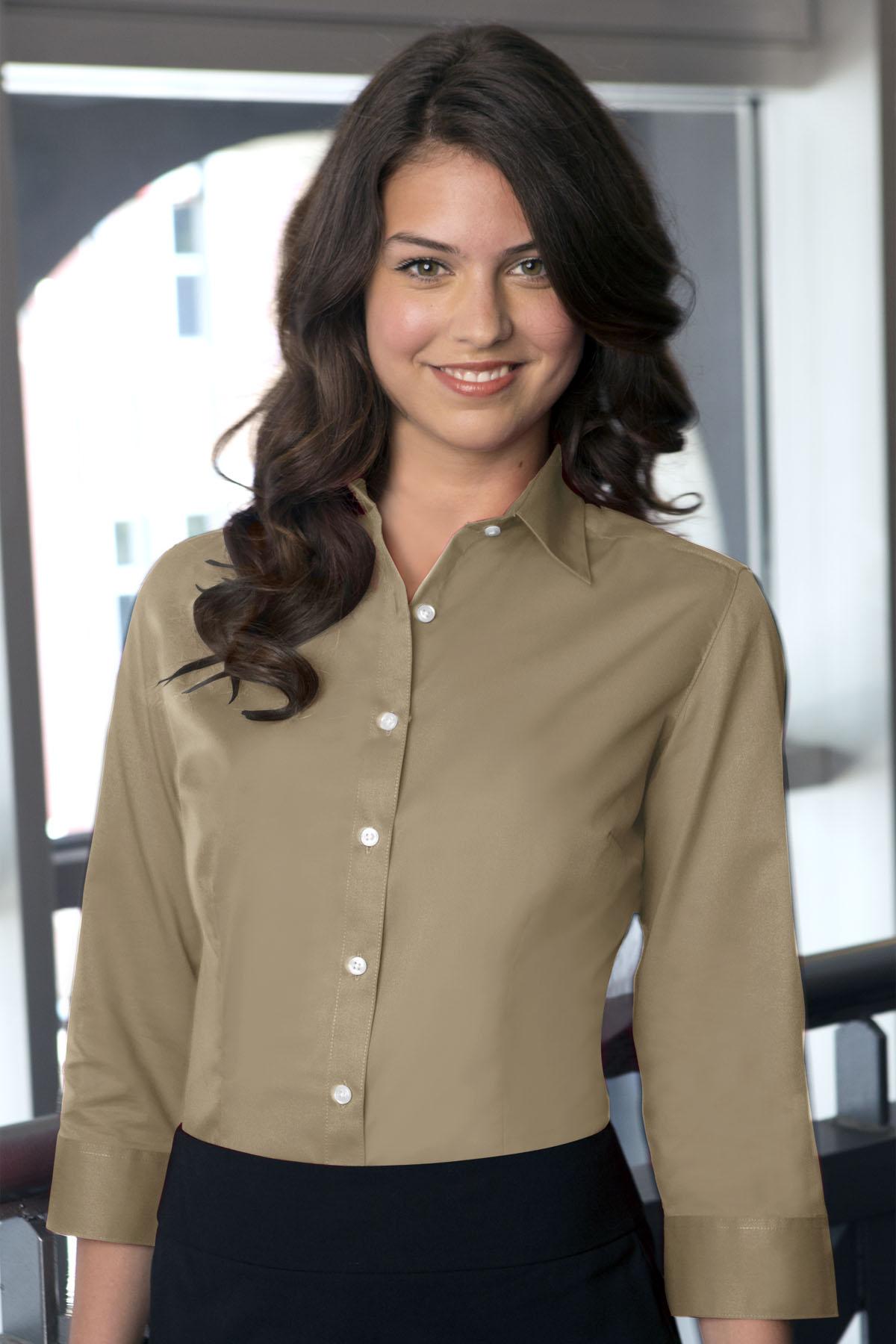 63d3714348c Van Heusen VANH0527 - Women s Easy-Care Dress Twill Shirt  20.09 ...