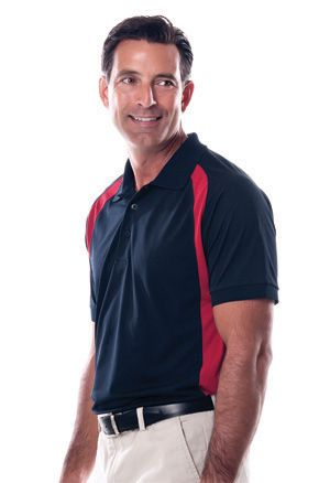 Zorrel Z1360 - Curved Color Block Golf Shirt