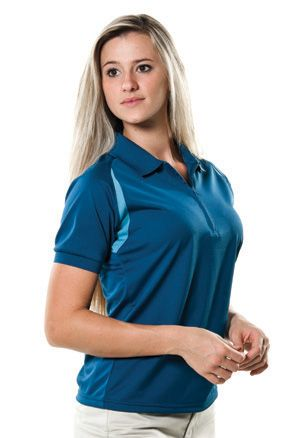 Zorrel Z5360 - Curved Color Block Golf Shirt