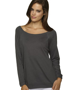 Next Level - 6951 Terry Raw-Edge 3/4-Sleeve Raglan