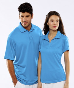 ULTRACLUB - 8220L UltraClub Ladies' Cool & Dry Jacquard Stripe Polo